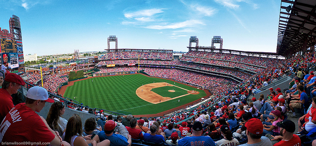 8. What's more American than baseball? Here is the Philadelphia Phillies' home field, stunning in panorama.