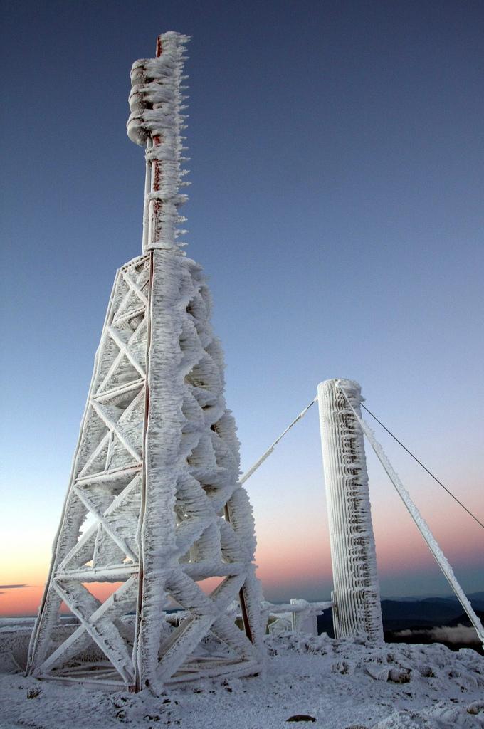 3. The summit of Mount Washington.