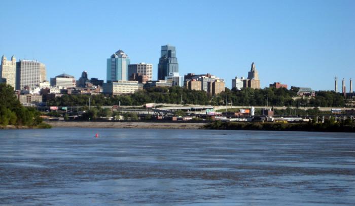 5. Kansas City skyline from the KS side of the river...
