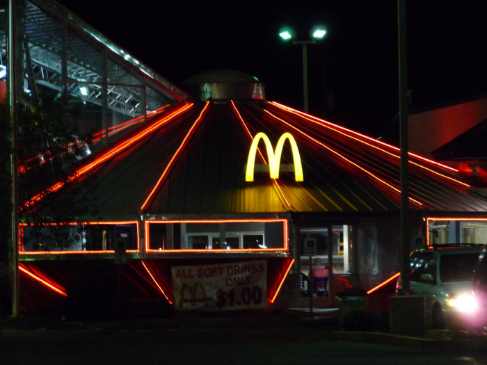 15. Roswell's McDonald's is ready for whatever the night brings... alien invasion or simpy a snack attack!