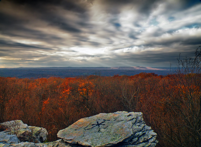 4. The Appalachian Mountains are one of our country's most distinctive geologic features; here, you can see Pleasant Valley from Wolf Rocks in Monroe County.
