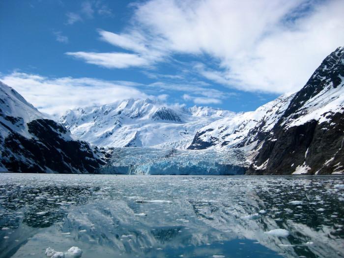 5) Alaska's shocking glacial views are good enough for any movie screen.