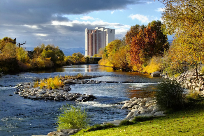 2. An autumn afternoon along the Truckee River.