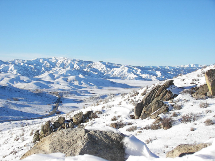Castle Rocks, Idaho in Winter