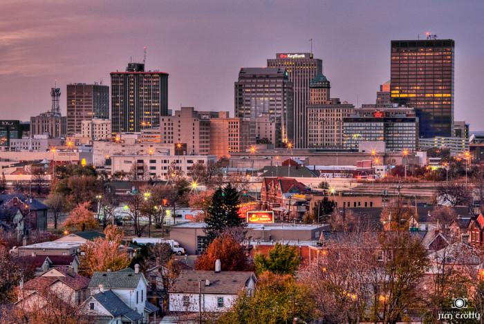9. November sunset over Dayton cityscape