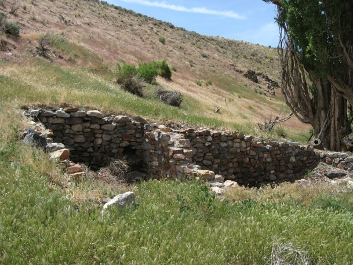 16. Ranch ruins at Grass Valley Meadow, south of Winnemucca, Nevada.