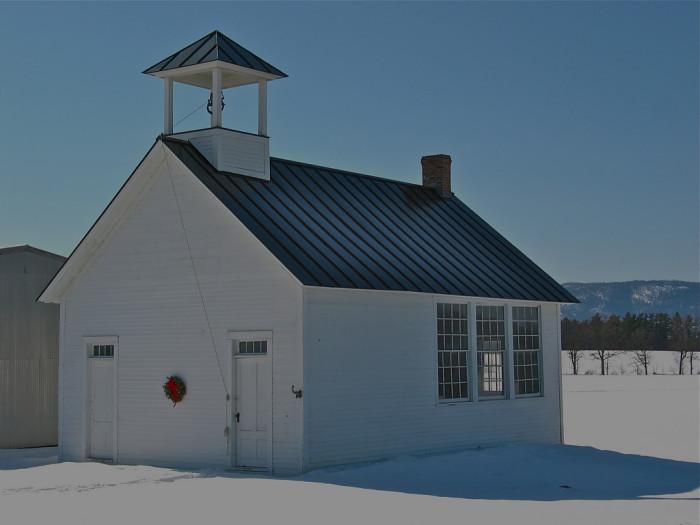 15.  One room schoolhouse in Bridport