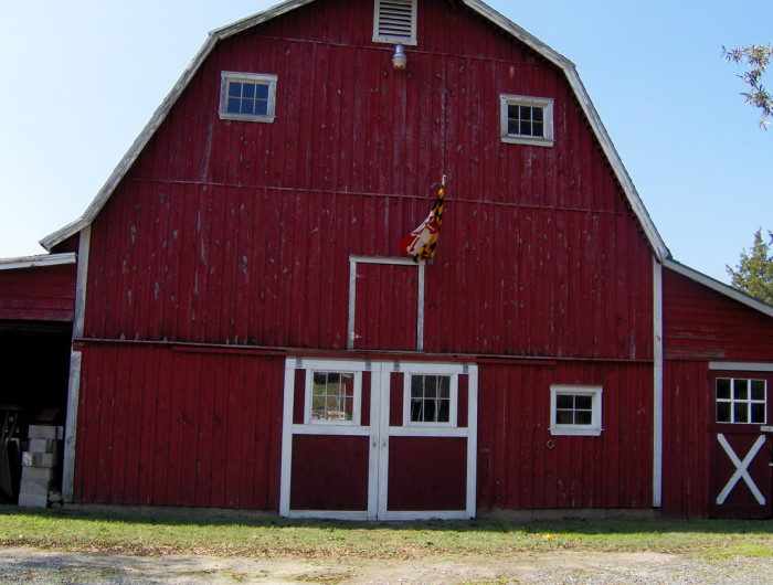 7) This barn in Princess Anne is fit for a vintage postcard.