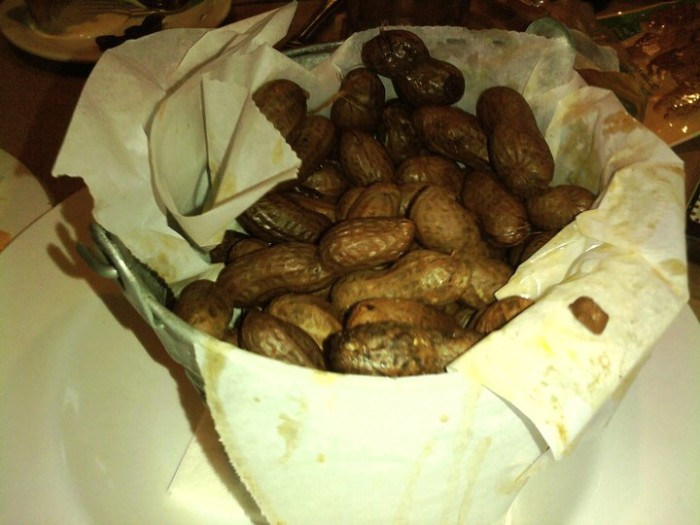 5. Eat boiled peanuts.