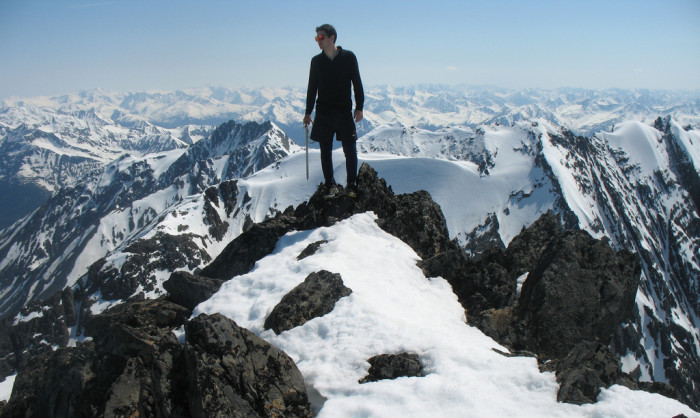 12) Crow Peak Summit... Can't you see this being the cover of a mountaineering movie?