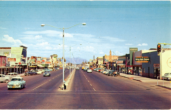 5. If you're from Mesa, you'll probably recognize this photo taken along Main Street.