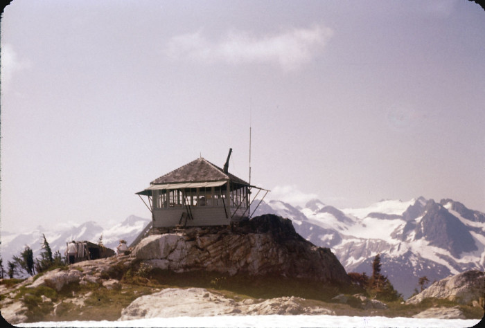 3. Sourdough Lookout in the North Cascades National Park, as seen in 1956.