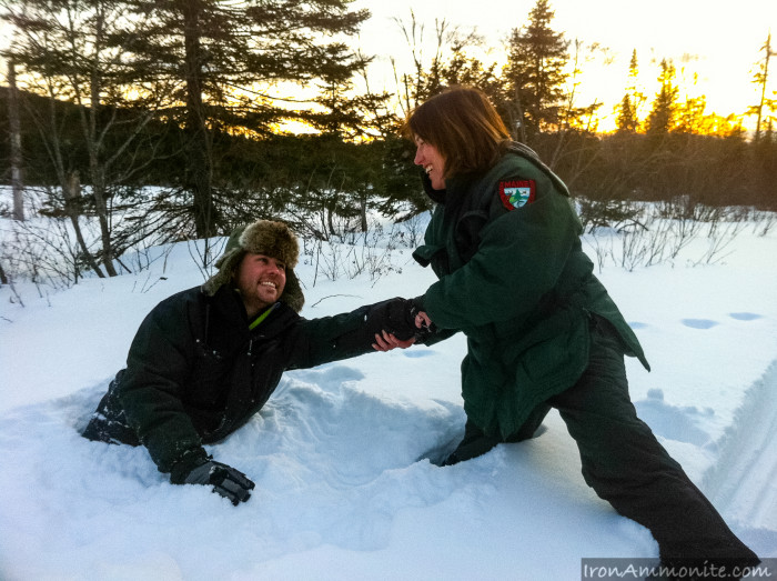 5. It's best to brave the winter with a friend. Even better if that friend is a ranger.