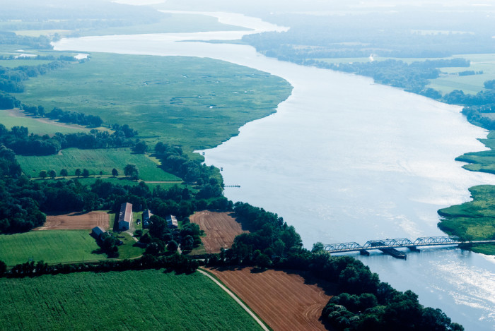 4) This photo shows a large stretch of the Choptank River.