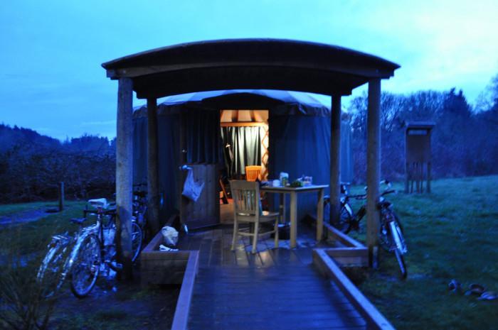 11. Camp in a yurt.