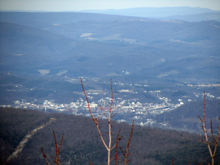 12) Cumberland is nestled in the mountains in this photo taken from Dan's Rock Overlook.