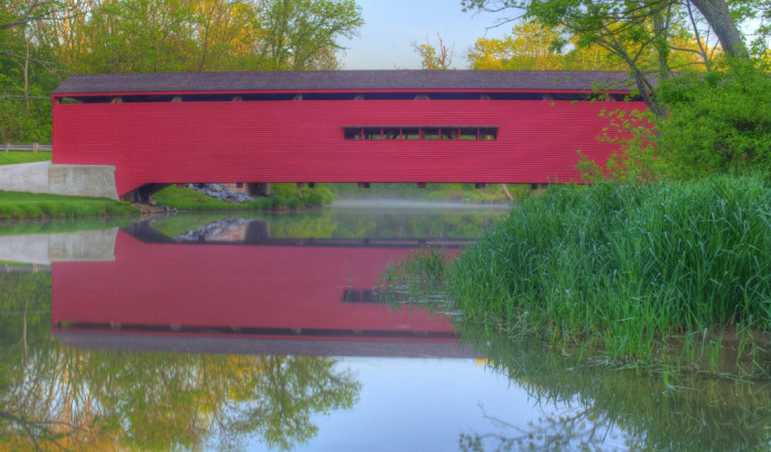 8) The Gilpin's Falls Covered Bridge is one of eight covered bridges left in Maryland.