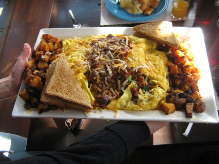 Rhode Island: The King Kong Omelet at The Hungry Monkey (Newport)