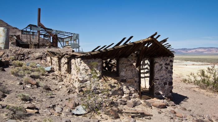 18. Ruins in Bonnie Claire, Nevada.