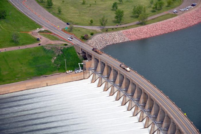 3. An aerial view of the Garrison Dam.