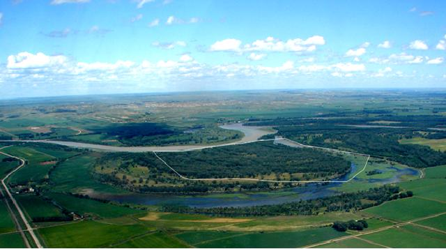 4. Wetlands around the Missouri River in northwestern ND.