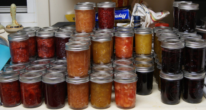 7) The endless supply of homemade preserves.