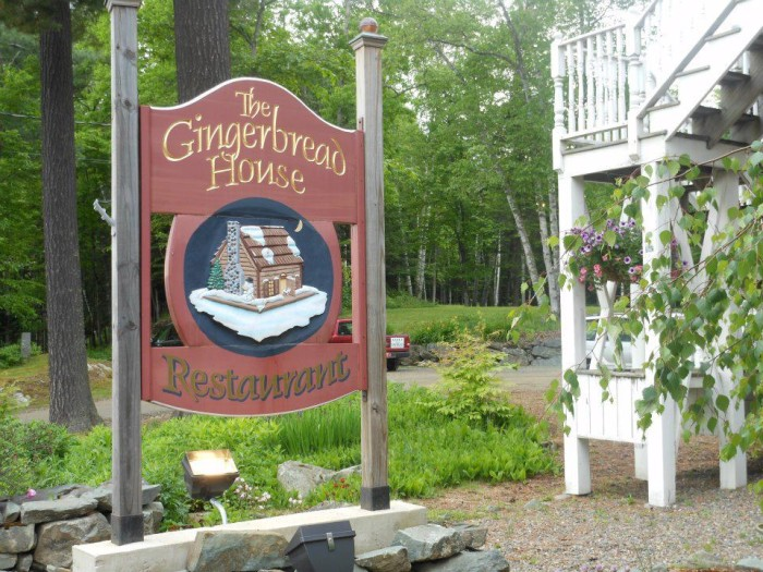 7. The Gingerbread House Restaurant, Oquossoc: 55 Carry Road, 207-864-3602