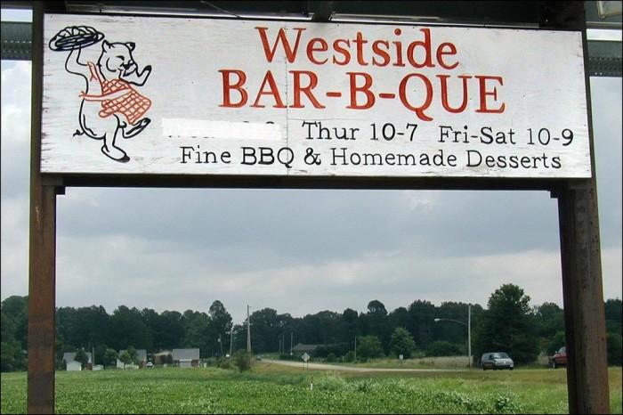 5. Westside Bar-B-Que, New Albany