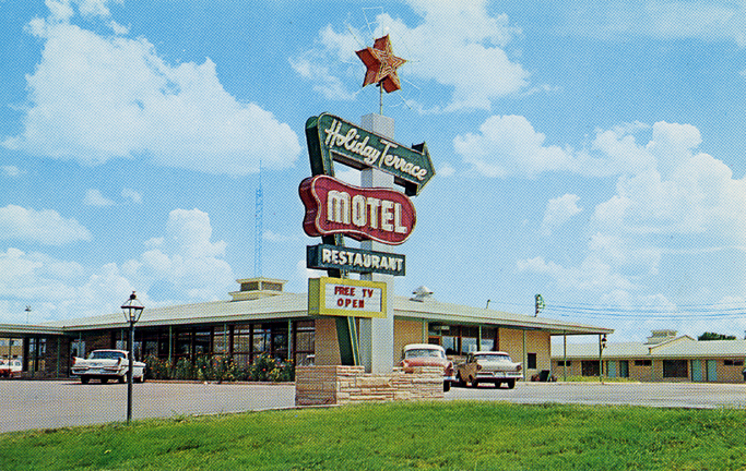 6. Taken in the 1950s, this Holiday Terrace Motel once sat along Hwy 8 East in Houston, Mississippi.