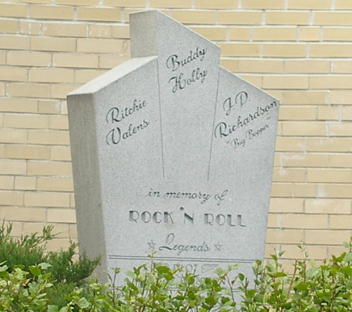 6. This memorial commemorating the Day the Music Died.