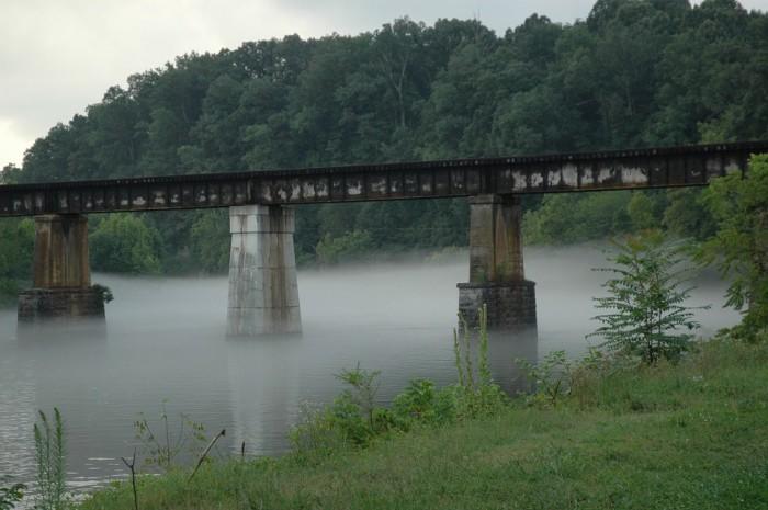 6) A forgotten railroad trestle