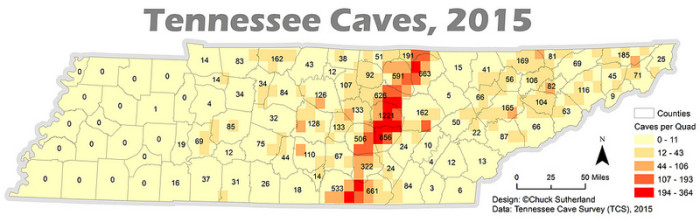 6) Ever wonder where Tennessee caves are located?