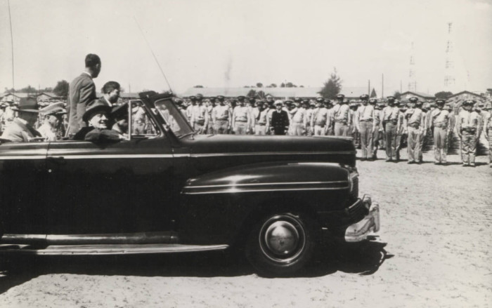 6. The President of the United States lands at Parris Island in April 1943.