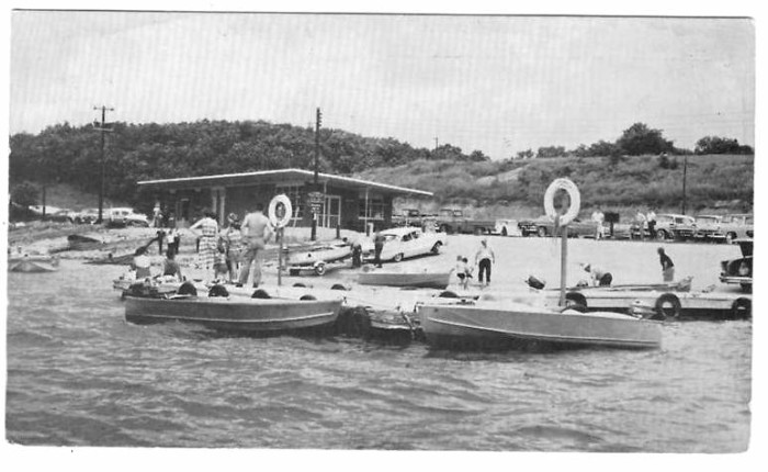 6.	Thousand Hills State Park Marina in mid-1950s.