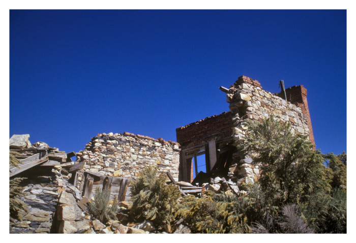 2. Ruins in central Belmont, Nevada.