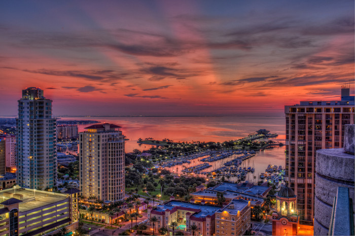 5. This view of a St. Petersburg sunrise would definitely make your day.