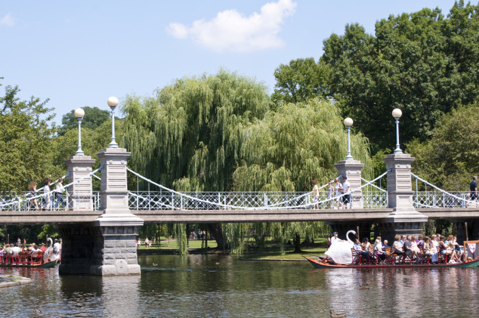 13. Boston Public Garden Bridge