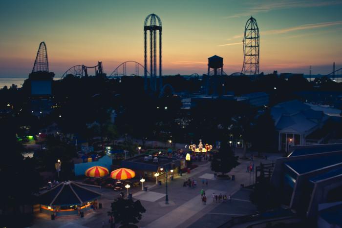 10. Cedar Point skyline in Sandusky