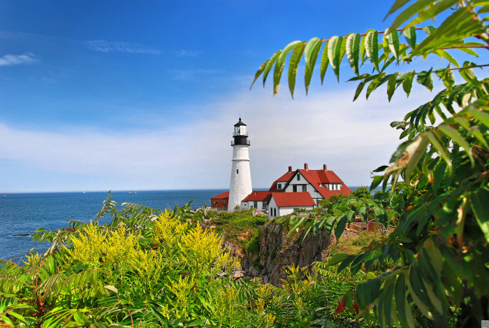 7. ...And, perhaps the most iconic of all of Maine's lights, Portland Head Light guiding boats home in Casco Bay.