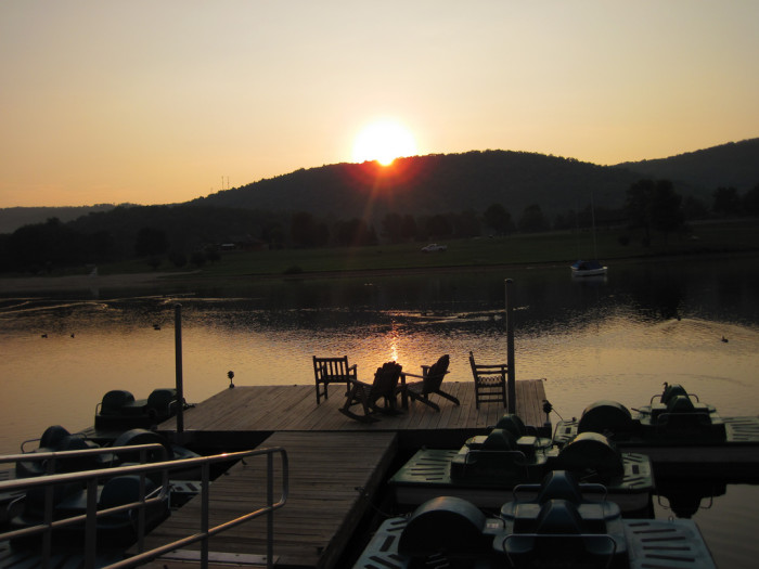 9) Rocky Gap State Park is so peaceful, especially early in the morning.