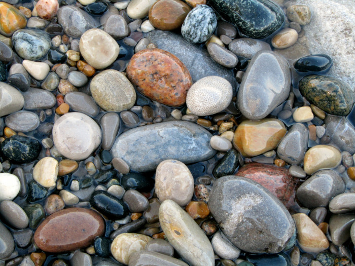 10) A display of stones. You spotted them while hiking near the lake and they were just so smooth!
