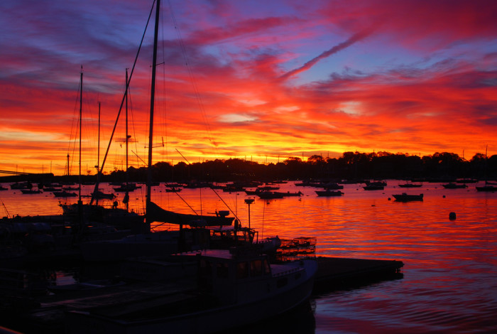 8. A fiery dawn at West Town Landing.