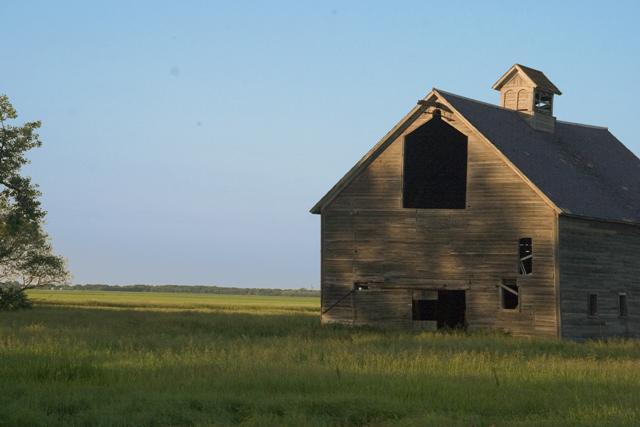 3. A worn down barn off a county road near West Fargo, ND