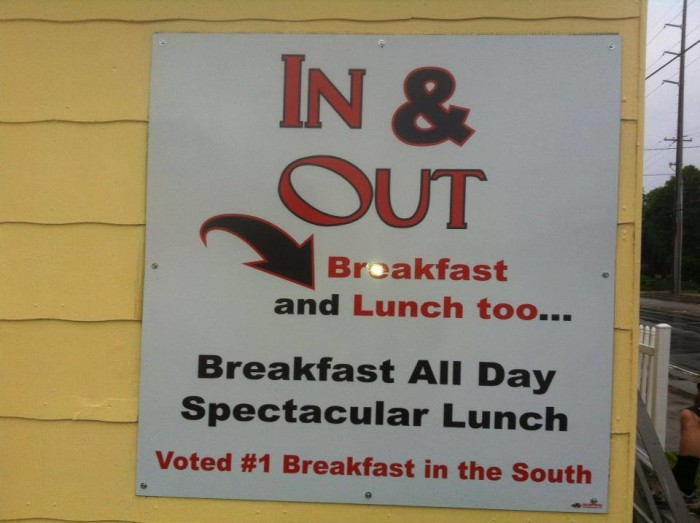 6. In and Out Breakfast and Lunch, Biloxi