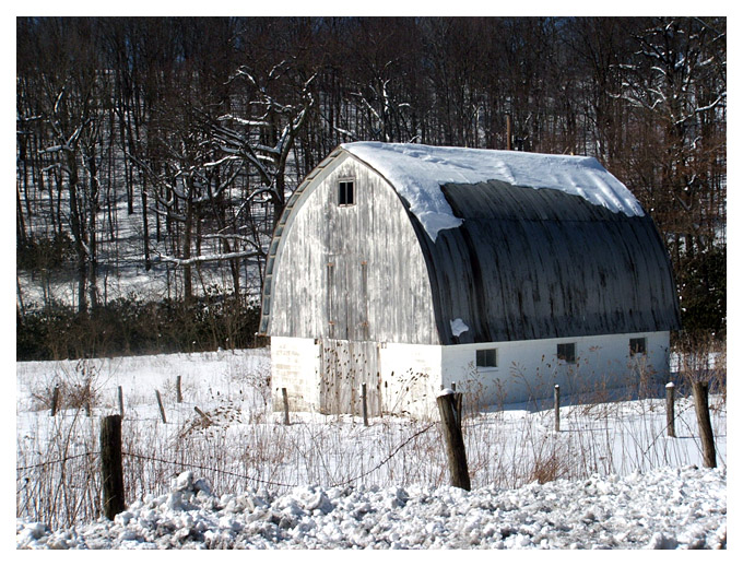 10) Another gorgeous Garrett County barn camouflaging with the snow.