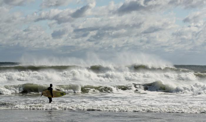 6. Wild surf in Gloucester