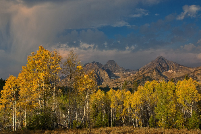 11. Autumn rain falling in the Sawtooths is a sublime view that is just as intimidating as it is lovely.