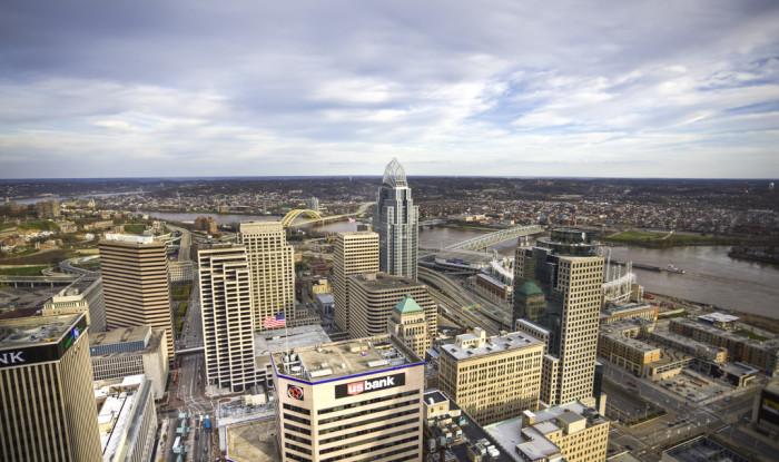 5. Cincinnati's daytime skyline