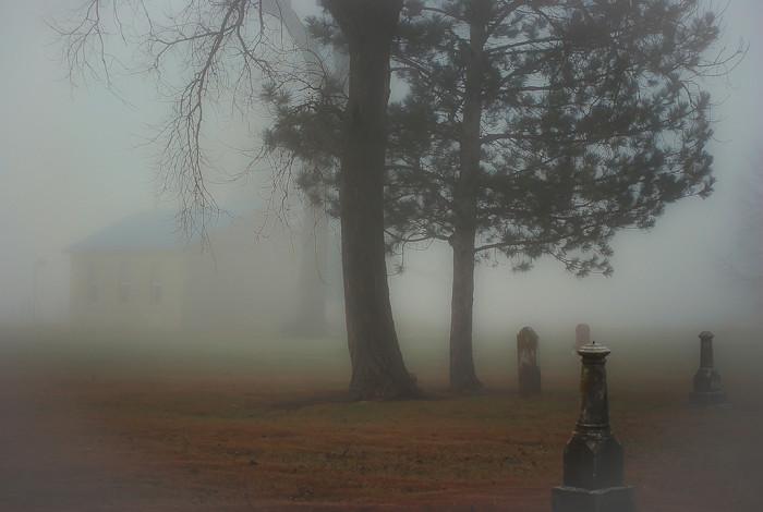 """12. """"Cemetery in Fog"""""""