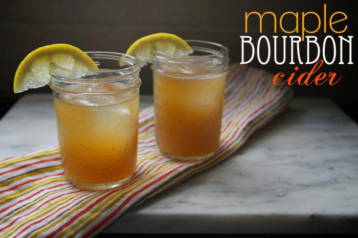 15.  Maple Bourbon Cider